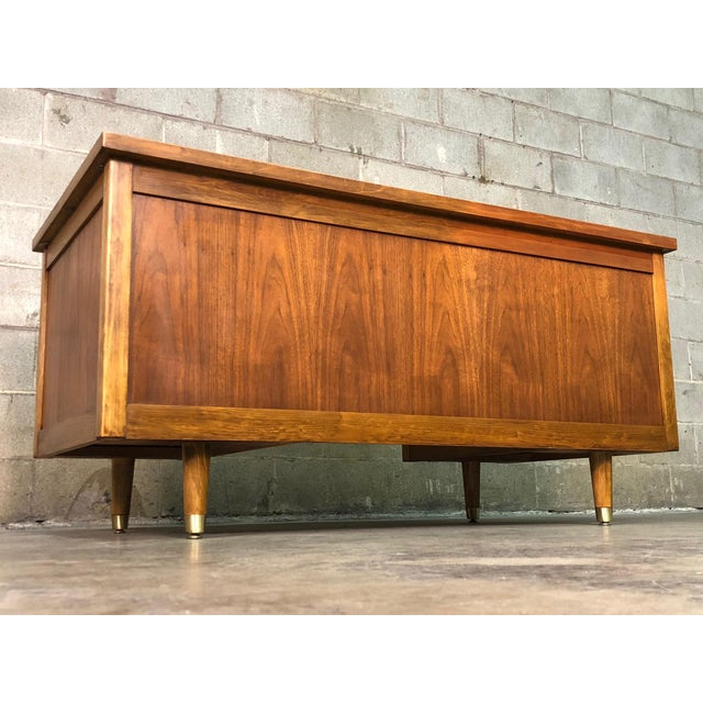 """Indiana Mid-Century Modern Executive Desk 30"""" X 60"""" Top For Sale - Image 12 of 13"""