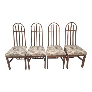 Vintage Farmhouse Shabby Chic Dining Kitchen Chairs - Set of 4 For Sale