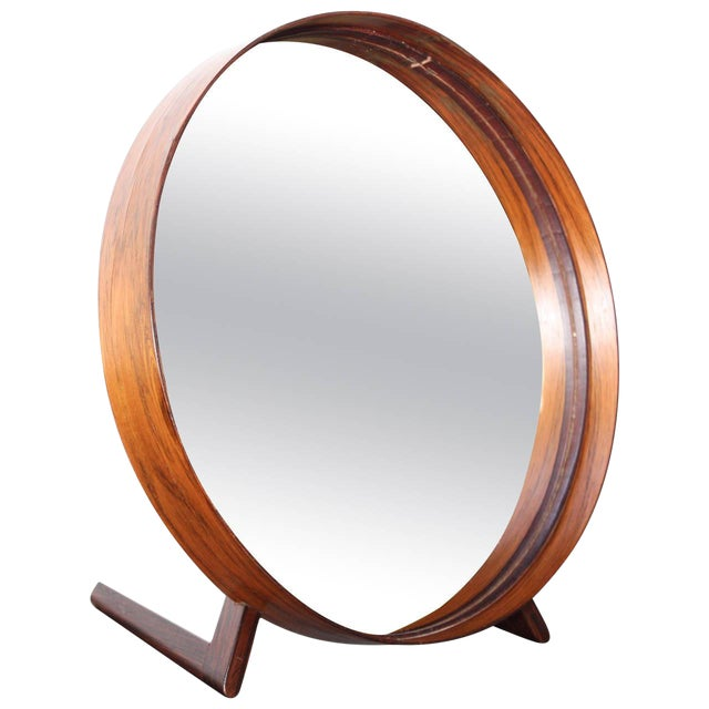 Swedish Rosewood Table Mirror by Uno and Östen Kristiansson for Luxus - Image 1 of 9