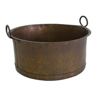 Danish Large Antique Copper Pot From 1960