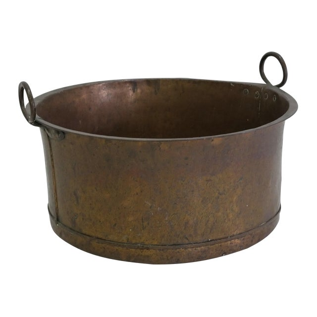 Danish Large Antique Copper Pot From 1960 - Image 1 of 7