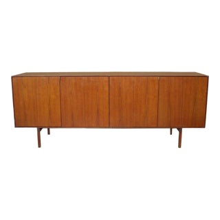 Four-door Teak Credenza With Adjustable Shelves by Florence Knoll For Sale