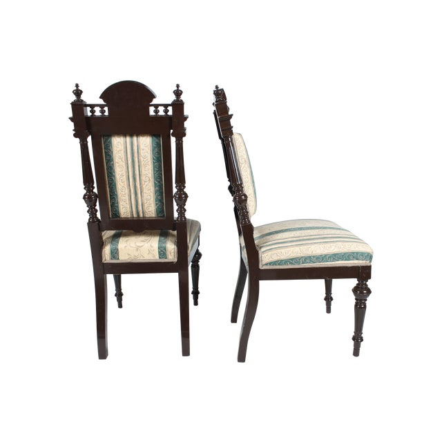 Baroque-Style Dining Chairs - Set of 4 - Image 1 of 4