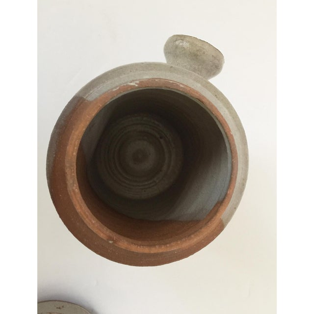 Mid Century Modern Artisan Pottery Covered Jar For Sale - Image 9 of 10