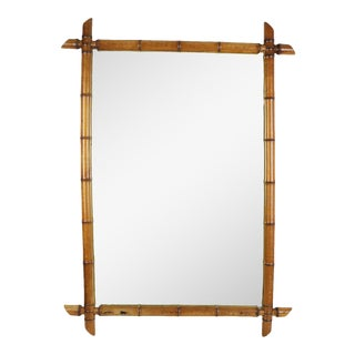 Circa 1920 French Faux Bamboo Mirror For Sale