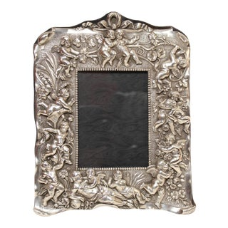 Traditional Sterling Silver Picture Frame For Sale