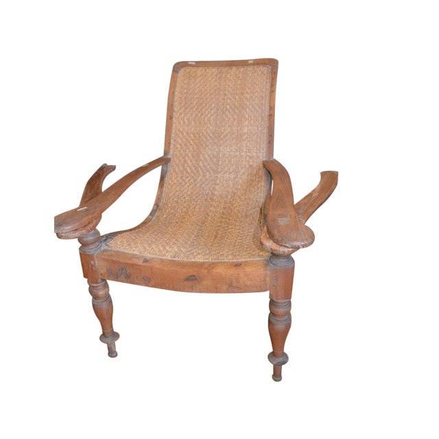 Woven Rattan Plantation Chair - Woven Rattan Plantation Chair Chairish