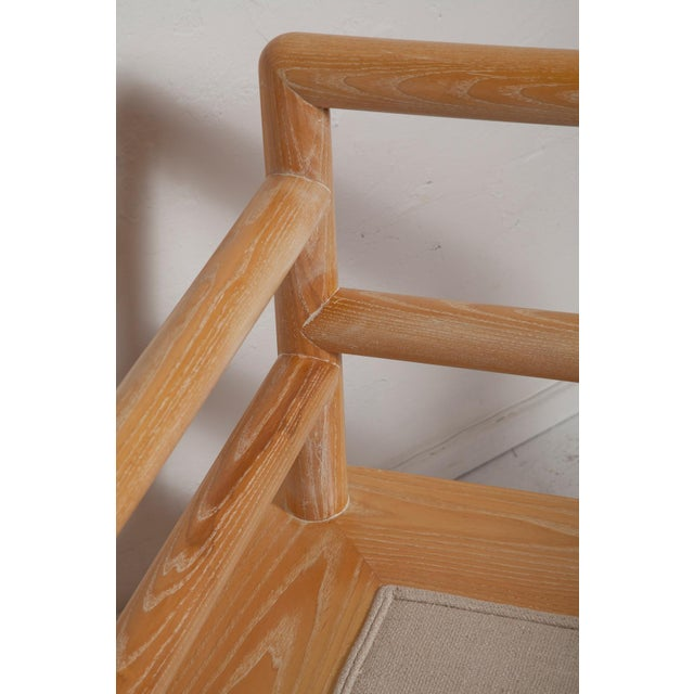 Pair of Karl Springer Cerused Oak Dowelwood Chairs For Sale - Image 9 of 13