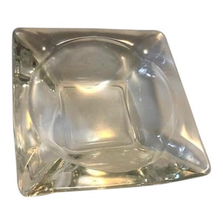 Vintage Clear Glass Ashtray For Sale