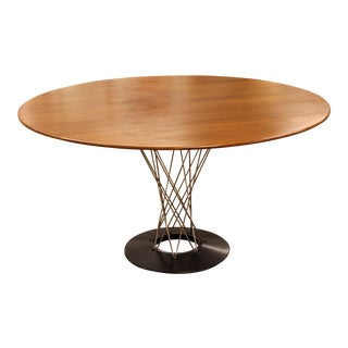 1960s Mid Century Modern Early Isamu Noguchi Knoll Cyclone Walnut Dining Table For Sale