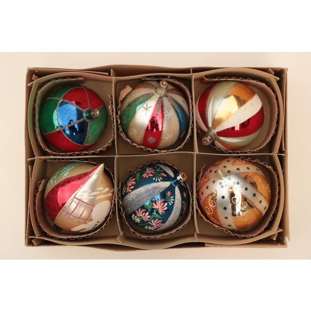 Americana Giant Vintage Blown Glass Ornaments - Set of 6 For Sale - Image 3 of 7
