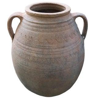 Unglazed Terracotta Jar For Sale