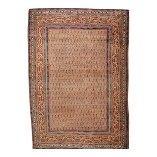 1900s Traditional Antique Tabriz Wool Rug