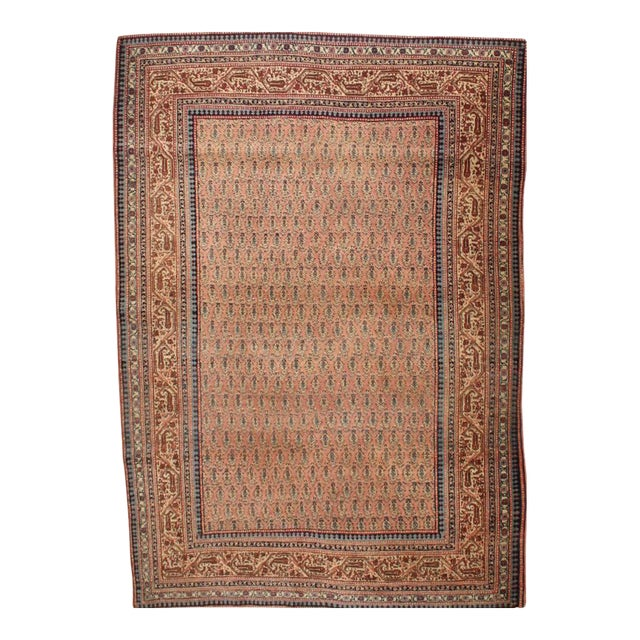 1900s Traditional Antique Tabriz Wool Rug - Image 1 of 3