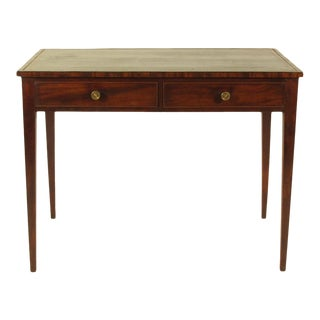 19th-C. Regency Mahogany Writing Table For Sale