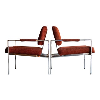 1970s Mid-Century Modern Milo Baughman for Thayer Coggin Lounge Chairs - a Pair For Sale