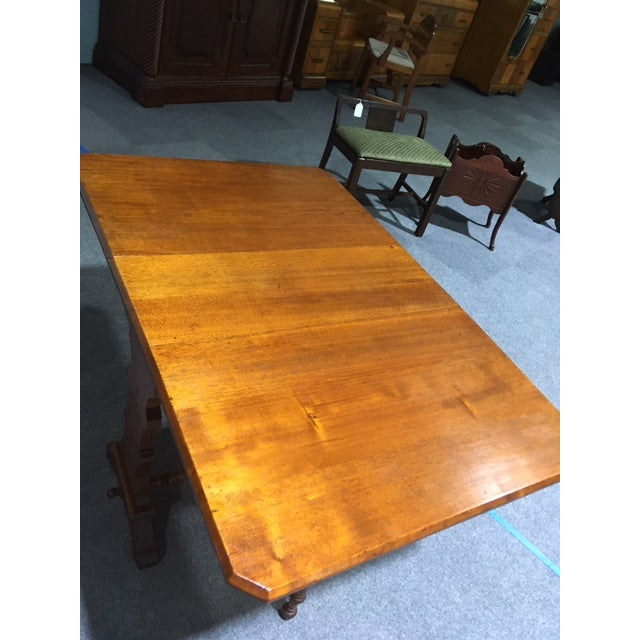 19th Century Pennsylvania Dutch Swing Leg Table For Sale - Image 11 of 13