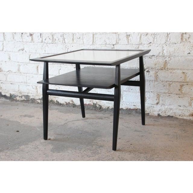 White Bertha Schaefer for Singer & Sons Ebonized Mid-Century Modern End Tables- A Pair For Sale - Image 8 of 13