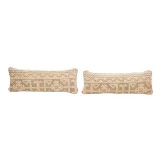 Oushak Lumbar Carpet Pillow - Set of Two For Sale