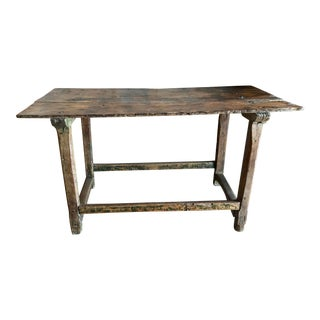Antique Southwestern Mesquite Console Table For Sale