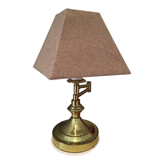 Vintage Mid-Century Swing Arm Brass Accent Lamp - Image 1 of 7
