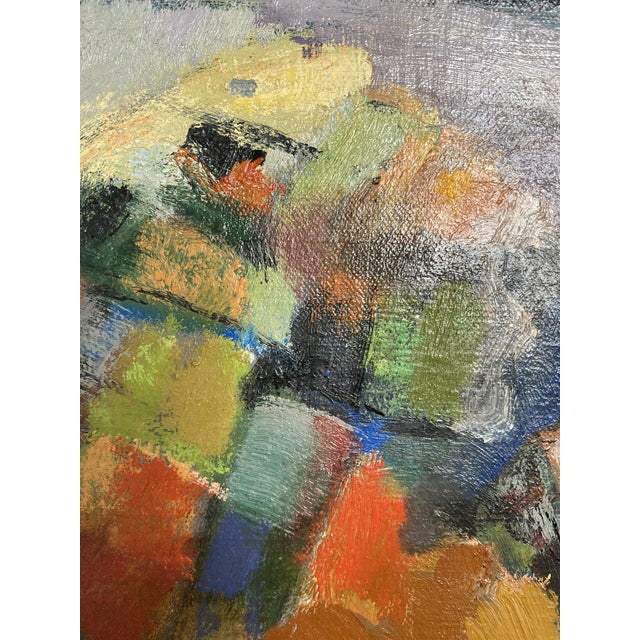 Canvas Mid 20th Century Abstract Original Oil Still Life Painting, Framed For Sale - Image 7 of 13