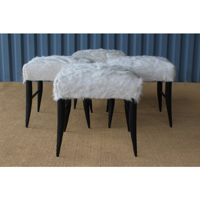 Croft Stool in Cowhide by Hollywood at Home For Sale - Image 4 of 8