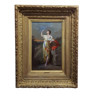 """Hippolyte Lozenges """"Lady Liberty"""" 19th Century French Oil Painting For Sale"""