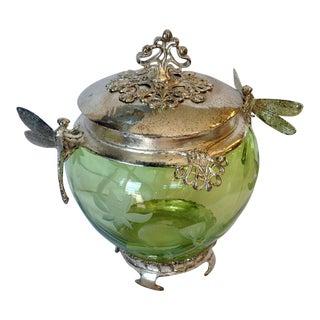 Art Nouveau Style Dragonfly Jar For Sale