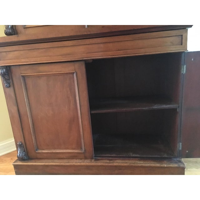 Late 19th Century 19th Century Traditional Mahogany Bookcase or China Cabinet For Sale - Image 5 of 11