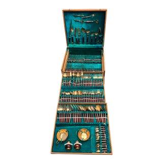 1950's Anderson & Lawler Bronzeware Bronze Silverware- Set of 149