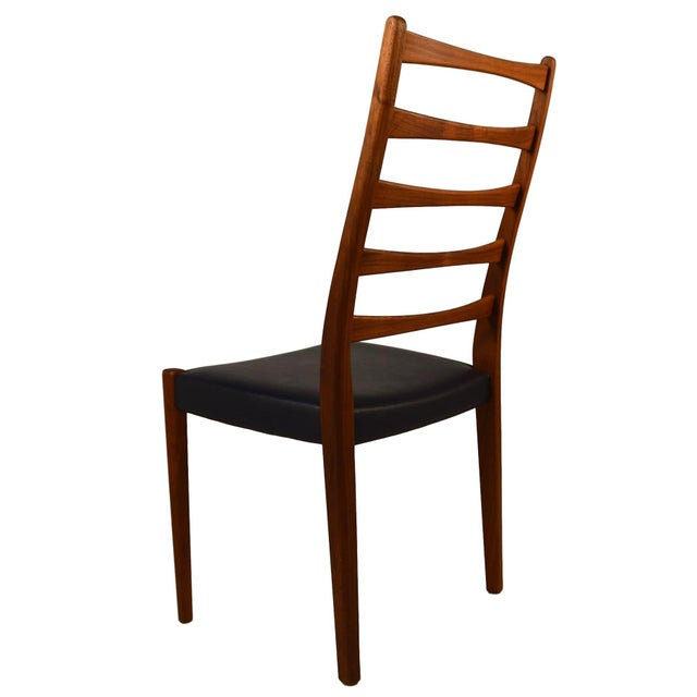 Set Of 4 Teak Ladder Back Chairs By Svegards - Image 7 of 10