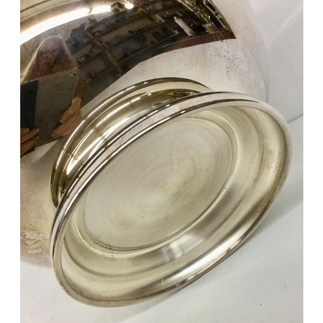 Metal 1970s Art Nouveau Sheffield Silver-Plated Revere Bowl For Sale - Image 7 of 13