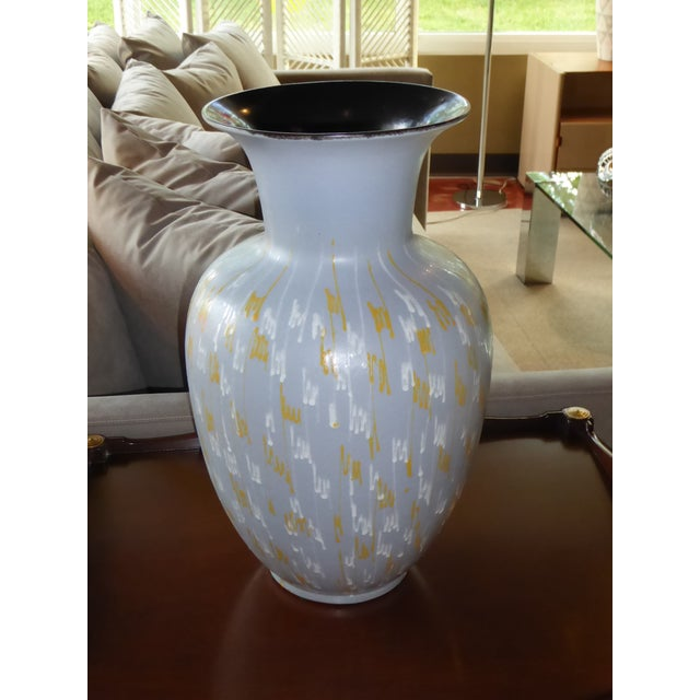 Ceramic Carstens Tonnieshof German Mid-Century Modern Floor Vase 1956 For Sale - Image 7 of 10