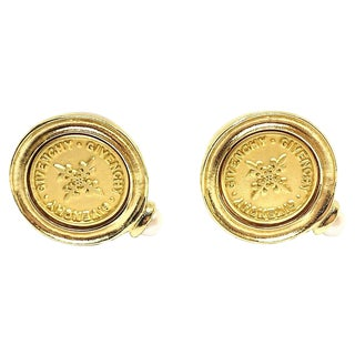 Givenchy Coin Style Earrings For Sale