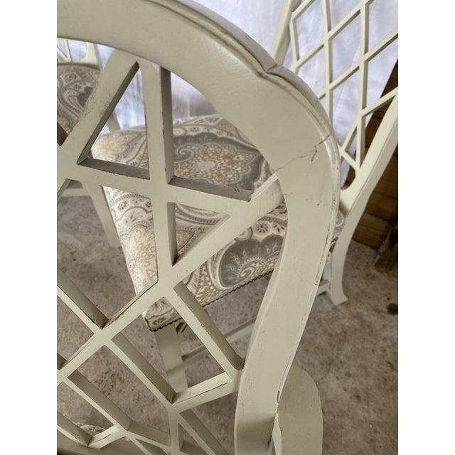 Paint Clive Daniel Fretwork Chairs - Set of 3 For Sale - Image 7 of 13