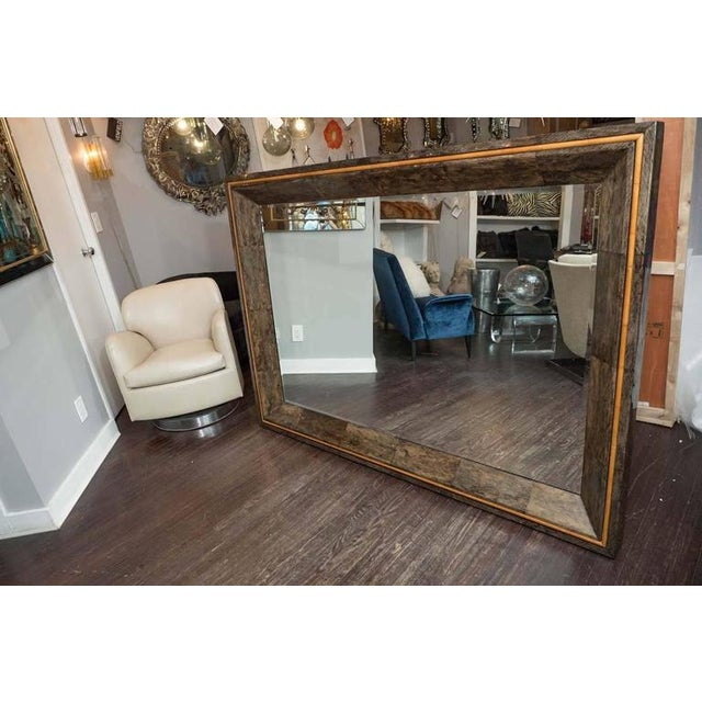 2010s Coco Shell and Parchment Mirror For Sale - Image 5 of 10