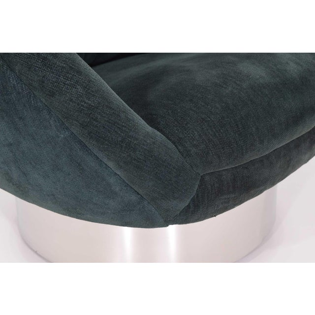 Green Vladimir Kagan Crescent Chair For Sale - Image 8 of 10
