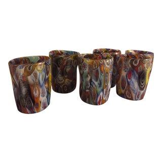 """Acqua """"Goto"""" Murrisa Glasses in Vetro DI Murano, Italy - Set of 6 For Sale"""