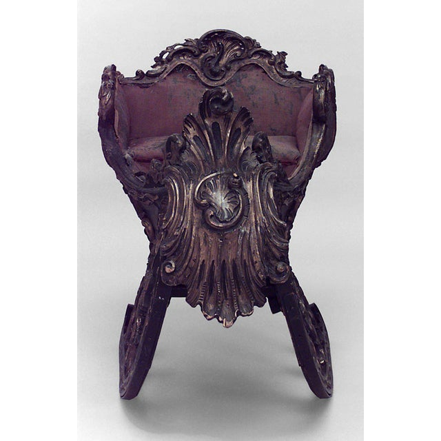 Rococo Ornate Turn of the 19th C. Russian Sleigh For Sale - Image 3 of 6