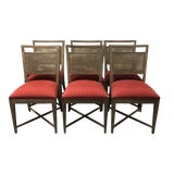 Image of Ethan Allen Grady Collection Cane Dining Chairs, Set of Six For Sale
