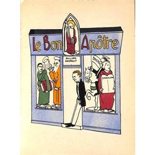 Paris Storefront, French Lithograph, Le Bon Apotre, Guilac 1925, Matted For Sale