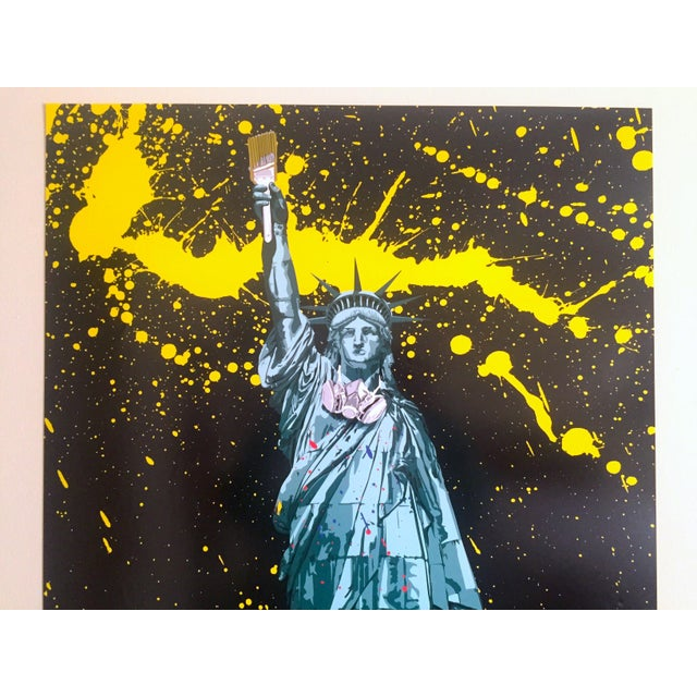 "This Mr. Brainwash "" Statue of Liberty "" authentic lithograph print Pop Art Poster by the world famous French born and Los..."