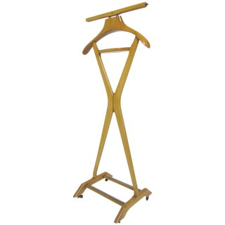 Modernist Gentleman's Valet Stand by Fratelli Reguitti, Italy For Sale