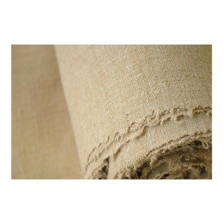 French Plain Hemp Linen Bolt Fabric - 13.4 Yards For Sale