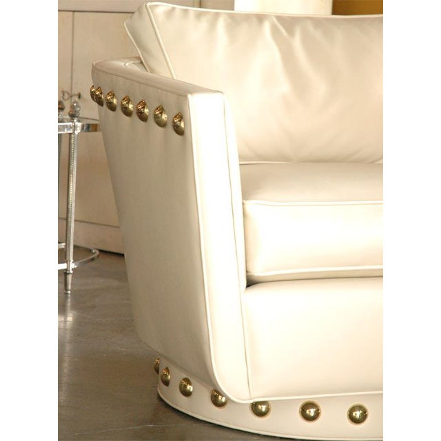 Contemporary Customizable Paul Marra Swivel Lounge Chair For Sale - Image 3 of 10