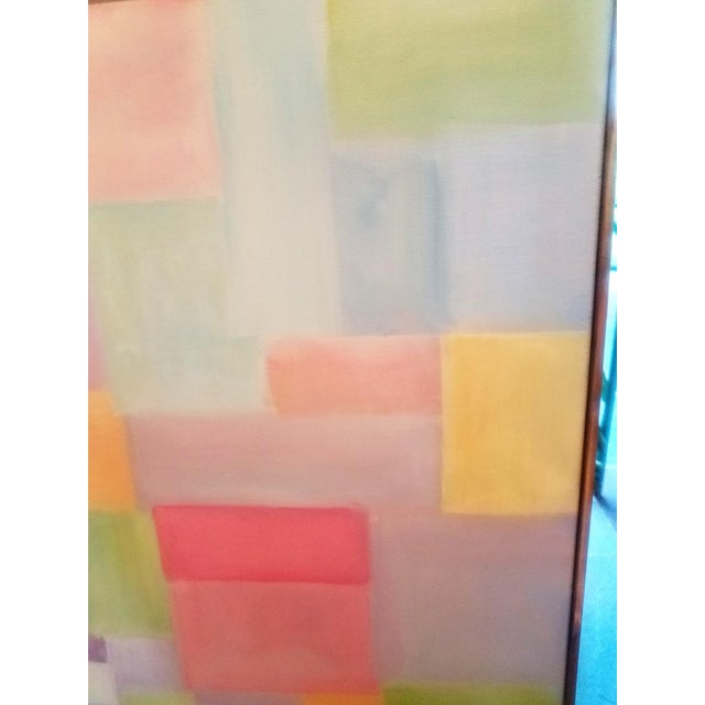 """Canvas Original Contemporary """"Patchwork"""" Oil Painting by Christine Frisbee For Sale - Image 7 of 8"""