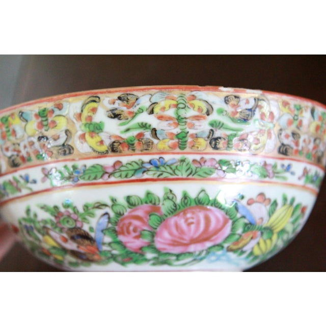 Vintage Chinese Famille Bowl For Sale In New York - Image 6 of 9