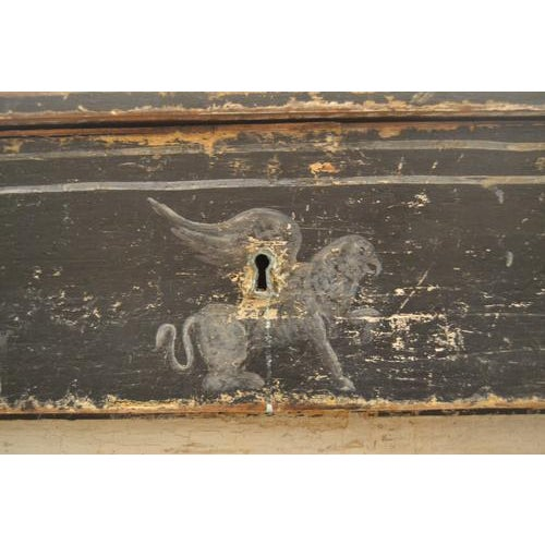 Antique Chest With New Paint (Black and White) From Spain For Sale - Image 4 of 13