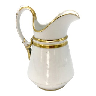 1853 Haviland Limoges Gold Trim Milk Pitcher For Sale